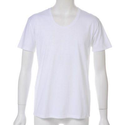夏の必需品!ベーシックUネック半袖Tシャツ(ホワイト)★