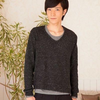 長袖シャツ+ニットソーアンサンブル(2点セット)(ブラック)