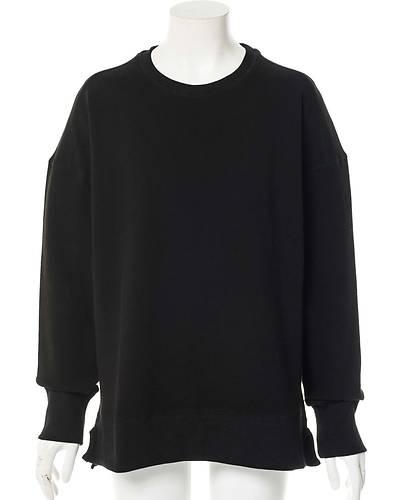 ドロップショルダースウェットシャツ(ブラック)