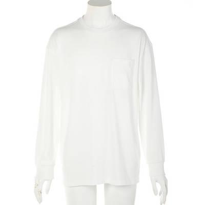 天竺長袖Tシャツ(ホワイト)