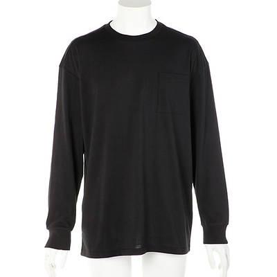 天竺長袖Tシャツ(ブラック)