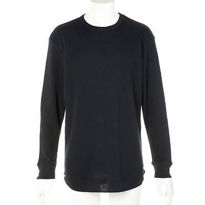 長袖クルーネックTシャツ(ブラック)