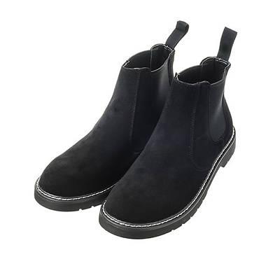 スエードサイドゴアブーツ(ブラック)