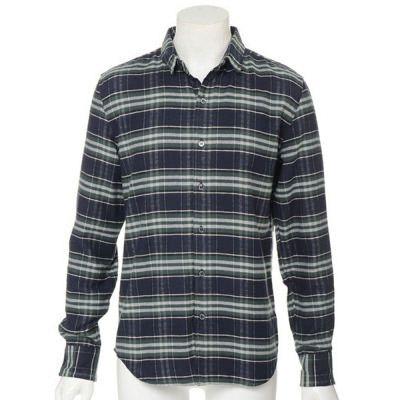 起毛チェックシャツ(グリーン)