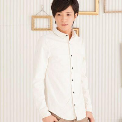 ストレッチコール ワイヤー入りシャツ(ホワイト)