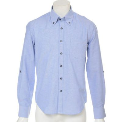 オックスフォード長袖ボタンダウンシャツ(ブルー)