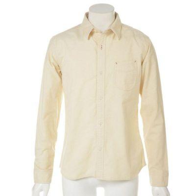 ネル起毛シャツ(ホワイト)◆