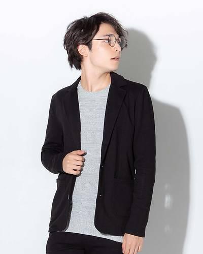 カルゼテーラードジャケット(ブラック)