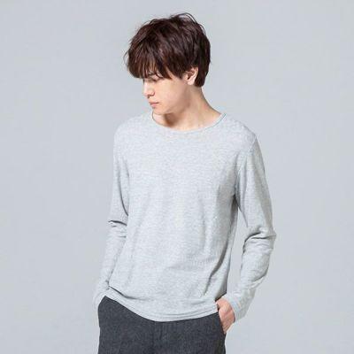ジャガードロングTシャツ(グレー)