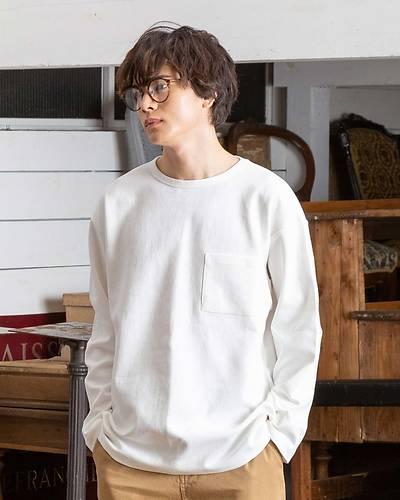 ドロップショルダー長袖Tシャツ(ホワイト)