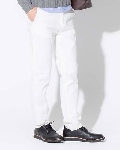 ツイルチノパンツ(ホワイト)◆