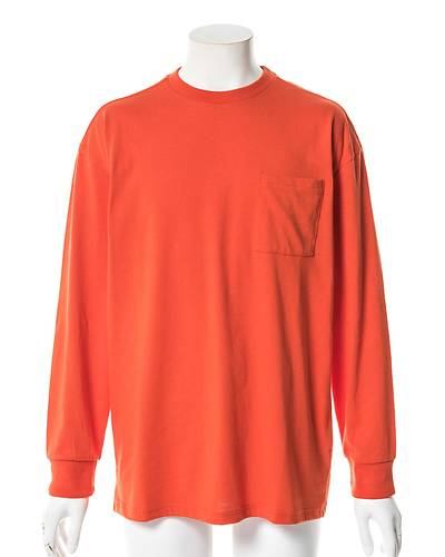天竺長袖Tシャツ(オレンジ)