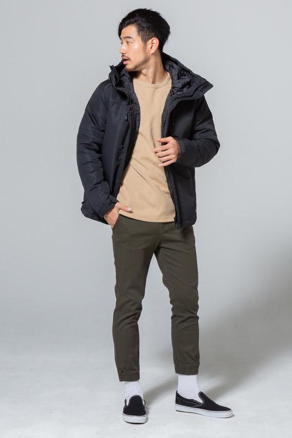 ダウンジャケット×長袖Tシャツ×パンツ(3点セット)