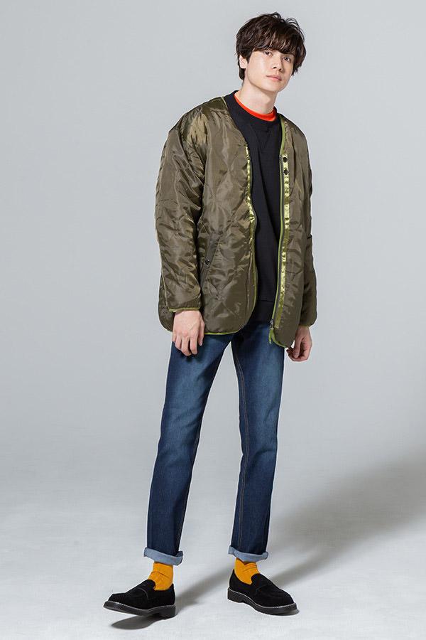 リバーシブルジャケット×トレーナー×長袖Tシャツ×パンツ(4点セット)