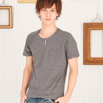 ジャガード半袖Tシャツ(チャコール)