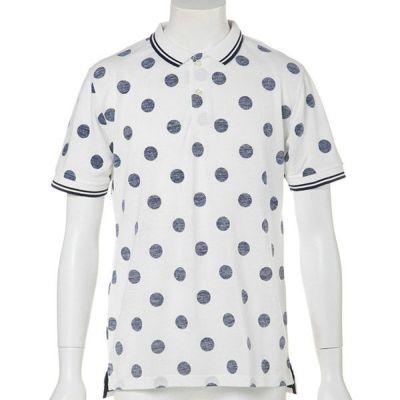 ドットカノコ半袖ポロシャツ(ロイヤルブルー)