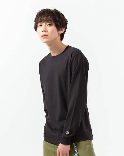 チャンピオン長袖Tシャツ(ブラック)