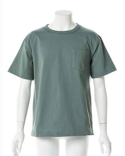 度詰め天竺半袖Tシャツ(グリーン)