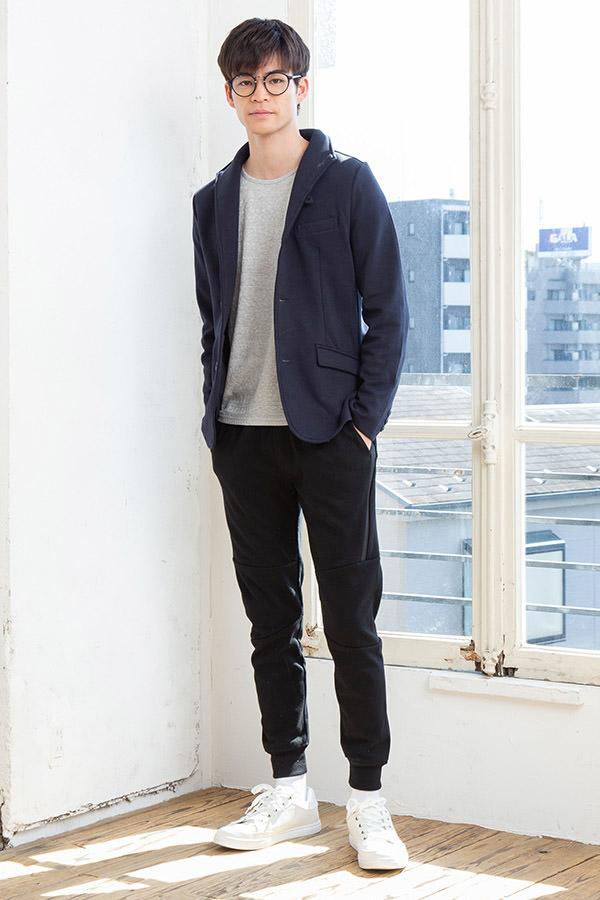 ジャケット×長袖Tシャツ×パンツ(3点セット)