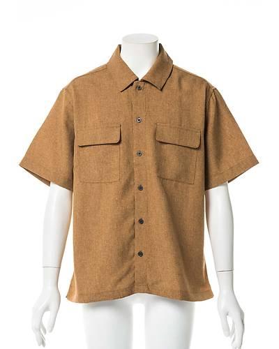 ポリトロ両ポケ半袖シャツ(テラコッタ)