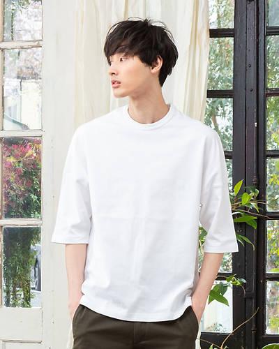 DISCUS ATHLETICドロップショルダービッグTシャツ(ホワイト)