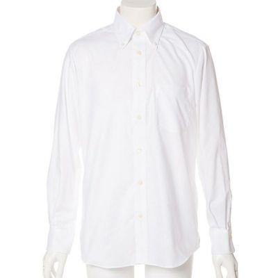 長袖オックスフォードシャツ(ホワイト)