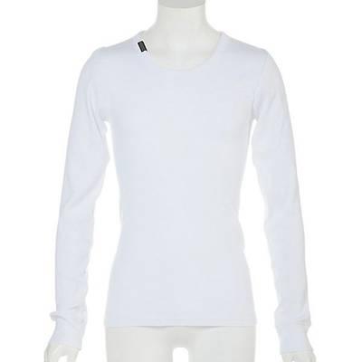 テレコ長袖UネックTシャツ(ホワイト)