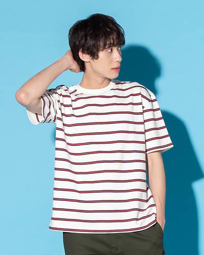 マルチボーダーTシャツ(ホワイト)