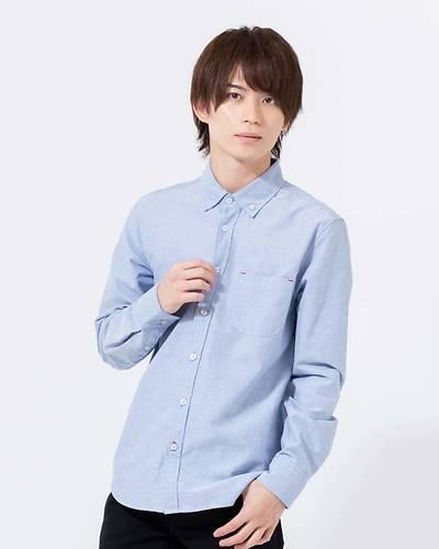 オックス長袖シャツ(ブルー)