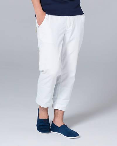 ベルト付きクロップドパンツ(ホワイト)