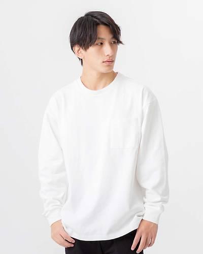 OE天竺長袖Tシャツ(ホワイト)