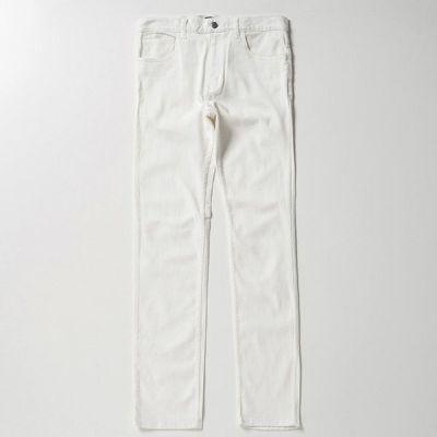 テーパード5ポケットパンツ(ホワイト)