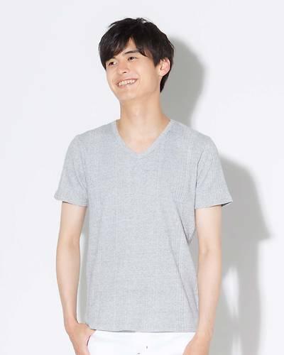 ランダムテレコ半袖Tシャツ(グレー)