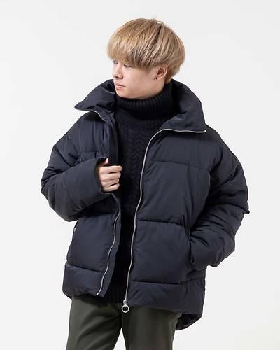中綿ドロップショルダージャケット(ブラック)