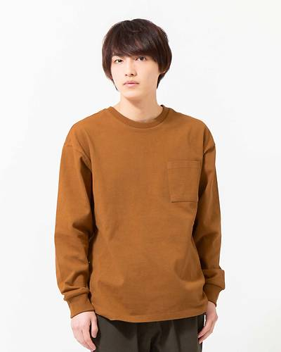 OE天竺長袖Tシャツ(テラコッタ)