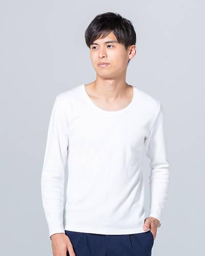 スムス長袖UネックTシャツ(ホワイト)