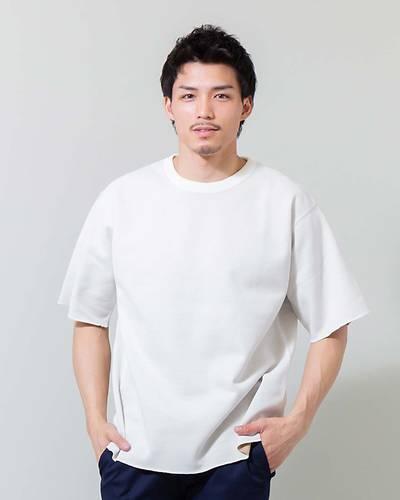 Wフェイスクルー半袖Tシャツ(ホワイト)