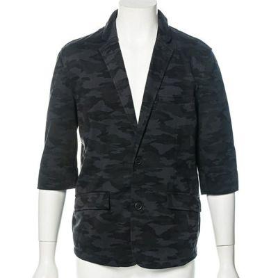 七分袖ポンチテーラードジャケット(カモフラ)