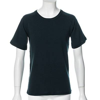 スパンフライスラグラン半袖Tシャツ(深緑/ネイビー)