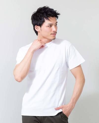 スパンテレコUネック半袖Tシャツ(ホワイト)