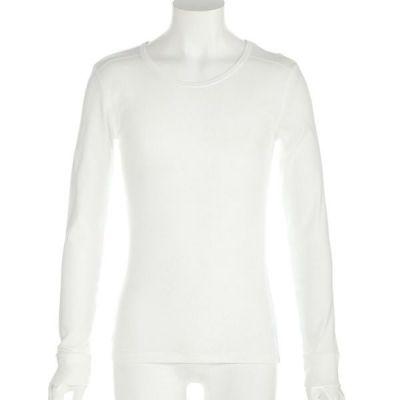 フライス長袖Tシャツ(ホワイト)