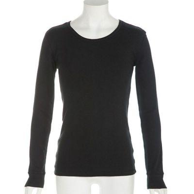 フライス長袖Tシャツ(ブラック)