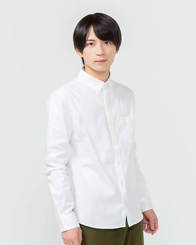 日本製オックスフォード長袖シャツ(ホワイト)