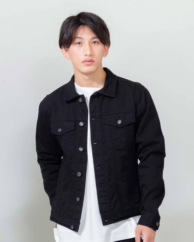 長袖デニムジャケット(ブラック)