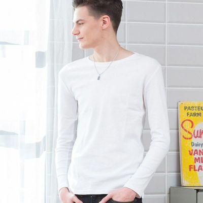 クルーネック長袖Tシャツ(ホワイト)