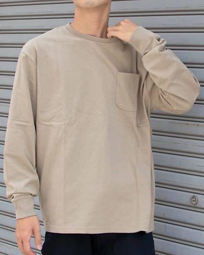 USAコットン長袖Tシャツ(ダークベージュ)
