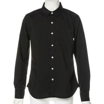 ブロードストレッチ長袖シャツ(ブラック)