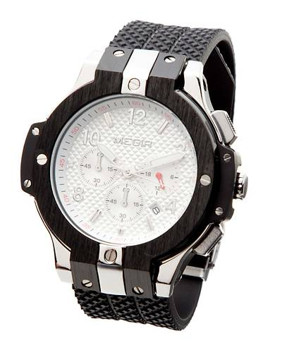 クロノグラフ搭載インポートモデル腕時計YWQ291(ホワイトシルバー)