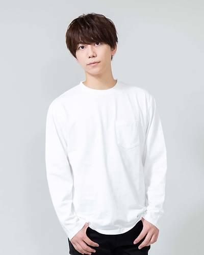 ヘビーウェイトクルーネック長袖Tシャツ(オフホワイト)