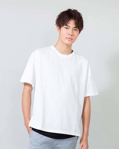 T/Cポンチ半袖Tシャツ+ワッフルタンクトップアンサンブル(2点セット)(オフホワイト)